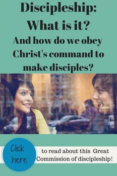 This is a super helpful article about what discipleship is and how we can all follow Christ's command to make disciples. Really practical and helpful for obeying Jesus in our daily lives as disciple-makers!