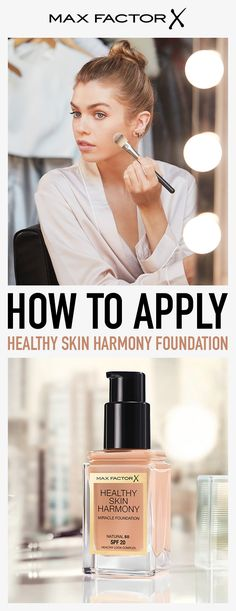 How to apply: STEP 1 - When applying the foundation, use your fingertips in a circular motion to massage your skin and encourage a natural glow.  STEP 2 - To choose your perfect shade, match the foundation with the skin tone of your jawline.  STEP 3 - For even coverage, apply a small amount in the center of your face and blend outwards with a foundation brush or your fingertips.  STEP 4 - Always apply the foundation in good natural light. Visit MaxFactor.com to learn more.