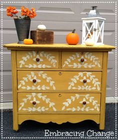 Chippy Yellow Dresser