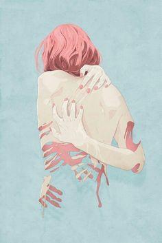 #ansiedad de lunes. #art #girl #pink