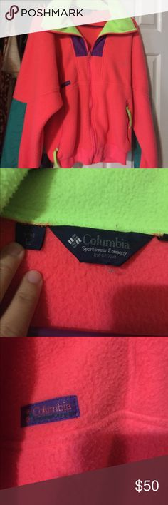 Vintage men's Columbia zip up Great condition! Minor wear and tear with NO STAINS! Beautiful bright colors! Make me an offer! Columbia Jackets & Coats Ski & Snowboard