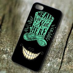 Alice in Wonderland we are all mad here for Iphone 6 and Iphone 6s Case. PRICE WON'T LIE, Our case price is representing the quality, don't compare our case with another low quality case that have a very cheap price.We have the BEST QUALITY HANDMADE CASES with clear image print in affordable price.Easy access to all ports, control sensors easily, and very comfortable to carry. Available Materials are PLASTIC and RUBBER ... Available Colors are BLACK and WHITE. Made and Ship from…