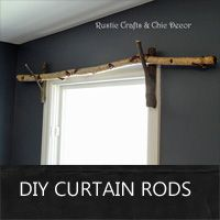 Rustic Crafts & Chic Decor - Renee's discussion on Hometalk. DIY Curtain Rod Idea - An easy and inexpensive rustic curtain rod idea. I like to use straight birch branches with forked branches as brackets. Branch Curtain Rods, Rustic Curtain Rods, Diy Curtain Rods, Wood Curtain, Curtain Ideas, Boho Curtains, Drop Cloth Curtains, Rustic Curtains, Yellow Curtains