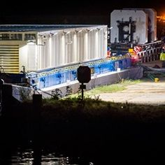 Barges containing hazardous waste head from Obrigheim nuclear power plant
