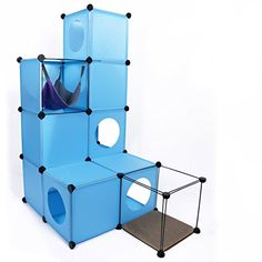 RayCC Cat Maze Playing House, Multifunctional Cat Condos, Kitty Cube Hideout
