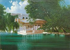 Arif Efendi Çadır Köşkü  Orijinal Boyut: 60 x 90 cm Ottoman Empire, Mansions, History, House Styles, World, Palaces, Iran, Castles, Paintings