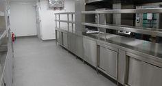 Safe& hygienic commercial kitchen flooring solutions in the UK. Kitchen Flooring Options, Best Flooring For Kitchen, Commercial Flooring, Commercial Kitchen, Chill Room, Hotel Kitchen, Industrial Flooring, Floor Drains, Rubber Flooring
