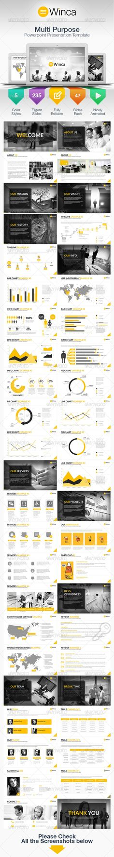 Buy Winca Multipurpose Business Power Point Template by thilinaruwan on GraphicRiver. Check the demo video here Multipurpose Business Power Point Template A creative, modern and slick presentation for mu. Presentation Deck, Presentation Styles, Corporate Presentation, Presentation Templates, Ppt Template Design, Keynote Template, Layout, Cool Powerpoint, Web Design