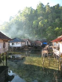 A village on water in Maluku, Indonesia