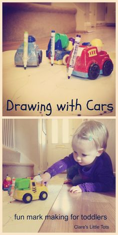 Cars Drawing with cars a fun mark making and art activity idea that toddlers will love.Drawing with cars a fun mark making and art activity idea that toddlers will love. Nursery Activities, Toddler Learning Activities, Sensory Activities, Infant Activities, Classroom Activities, Play Activity, Drawing Activities, Activities For Children, Infant Classroom Ideas