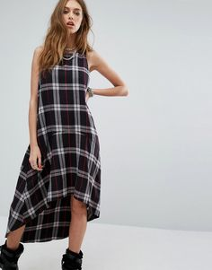 Buy it now. Noisy May Erik Check Hi-Lo Dress - Multi. Dress by Noisy May, Woven cotton fabric, Round neckline, Checked design, High-low hem, Loose fit � falls loosely over the body, Machine wash, 100% Cotton, Our model wears a UK S/EU S/US XS and is 175cm/5'9 tall. ABOUT NOISY MAY The younger and louder sibling of Danish brand Vero Moda, Noisy May is your new go-to label for fashion-forward denim. Their first collection sees authentic, raw, cutting-edge jeans sit alongside a trend-led…