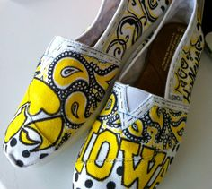 University of Iowa TOMS! University toms in general awesome This Is Your Life, Iowa Hawkeyes, To Color, Football Season, On Shoes, Girly Things, Toms, Just For You, University