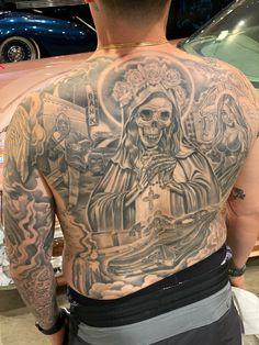 P Tattoo, Chicano Tattoos, Back Tattoos, Ink Art, Upper Body, Cartoon, Ideas, Female Tattoos, Back Tattoo