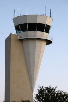 That weird ice cream cone-shaped control tower at Alliance Airport