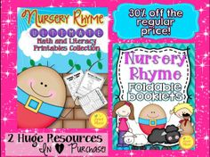 Nursery Rhyme Bundle (Buy 2 together and save 30%) Over 230 pages of posters, booklets and printables. Everything you need for your Nursery Rhyme unit with easy to use printables and booklets. $