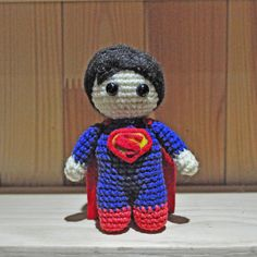 #batman #superman #batmanvsuperman Superman /Superman crochet / Superman amigurumi / Superman toy by VictoriaYevl on Etsy