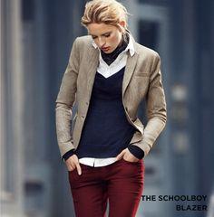 Tweed, navy & burgundy