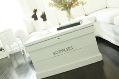 Now where can I get one of these blanket boxes to make a great coffee table like this?