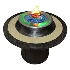 OPT-4444 Round Gas Fire & Water Table | WoodlandDirect.com: Outdoor Fireplaces: Fire Pits - Gas, The Outdoor Plus
