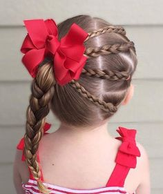 Easy and impressive girly hairstyles for school Easy Toddler Hairstyles, Girls Hairdos, Cute Little Girl Hairstyles, Baby Girl Hairstyles, Girls Braids, Easy Hairstyles, Toddler Hair Dos, Updo Hairstyle, Prom Hairstyles