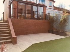 Garden Design and Build all-in-one solution based in Salisbury, Wiltshire Bamboo Planter, Planters, Steel Railing, Railings, Sandstone Paving, Artificial Turf, Terrace, Garden Design