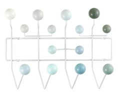Appendiabiti da parete Hang It All bianco - 51x37x17 cm