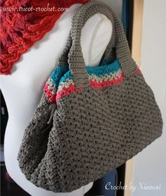 Tuto - Sac à main au crochet | Xiaowei Design - Tutoriels et patrons de tricot