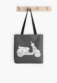 Enjoy and explore the open roads. Discover the beauty and wonder of our precious earth. Enjoy your destination with family and friends. Vintage retro hand drawn Scooter design. Perfect for the bohemian, hipster, and wanderlust heart. • Also buy this artwork on bags, apparel, phone cases, and more.