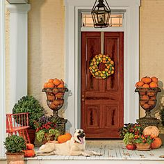 Pumpkin Ideas for Your Front Door | Southern Classic | SouthernLiving.com
