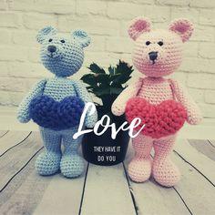 🐻💗Love and Be Loved💗🐻 Amigurumi Toys, Love Crochet, Crocheting, Knitting, How To Make, Handmade, Instagram, Crochet, Hand Made