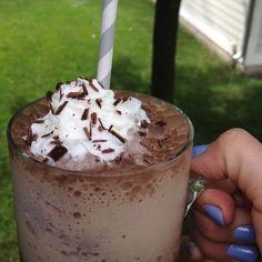 Healthy Starbucks Mocha Frappuccino in Glass - The Lemon Bowl