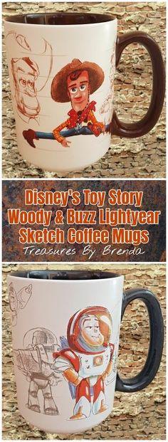 Toy Story 20th Anniversary Coffee Mugs Disney Coffee Mugs, Coffee Mugs Vintage, Disney Mugs, Cute Coffee Mugs, I Love Coffee, Best Dad Gifts, Gifts For Father, Coffee Mug Display, Toy Story Movie