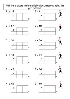 printable multiplication worksheets on pinterest. Black Bedroom Furniture Sets. Home Design Ideas