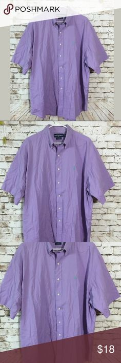 "Polo Ralph Lauren XL Blake lavender button shirt 28"" chest measurement . In great condition!! Bundle & save or ask for discounts, lots of clothes up, we add new inventory everyday, make sure to come back anlet us know for additional discount. Polo by Ralph Lauren Shirts Casual Button Down Shirts"