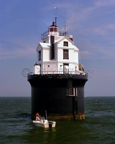 Fourteen Foot Bank Lighthouse Photo - Stock Photo