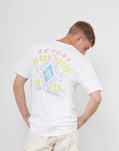 The Idle Man Sevens Sports T-Shirt White, Purple & Yellow #StyleMadeEasy