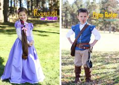 rapunzel and flynn rider and pascal costume tutorials