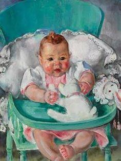 Martha Walter (American Impressionist, 1875–1976) Happy Baby