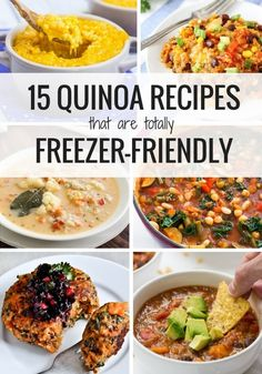 15 healthy quinoa recipes that are totally freezer friendly! From soups, stews, chilis, casseroles and burgers, your freezer will be STOCKED this winter!