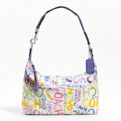 Coach Signature Stripe Multi Print Hobo Bag F19418 (Multi-Color)
