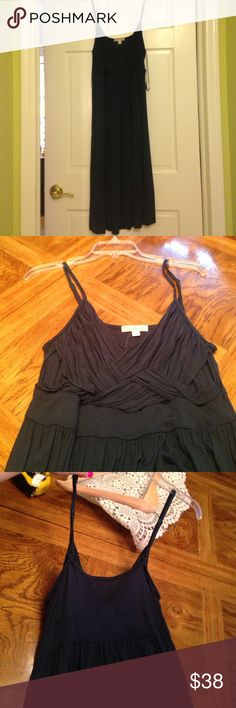 Party Dress NWT New York and Co Dress. Adjustable straps. The dress is a navy with a hint of green in my eyes. 100% Rayon, 21in from hip New York & Company Dresses