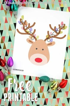 Thumbprint Christmas Reindeer - Kid Craft Idea w/free printable template