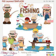Fishing With Dad Layered Element Templates cudigitals.com cu commercial scrap scrapbook digital graphics#digitalscrapbooking #photoshop #digiscrap