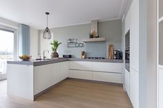 The Best 2019 Interior Design Trends - Interior Design Ideas Modern Kitchen Interiors, Modern Kitchen Design, Grey Kitchens, Home Kitchens, Kitchen Dinning, Kitchen Decor, Small U Shaped Kitchens, Dinner Room, Small Room Bedroom