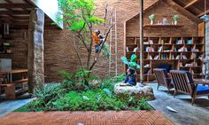 Uncle's House by 3 Atelier « Inhabitat – Green Design, Innovation, Architecture, Green Building Casa Patio, Green Building, My Dream Home, Interior And Exterior, Interior Garden, Architecture Design, Pavilion Architecture, Sustainable Architecture, Residential Architecture