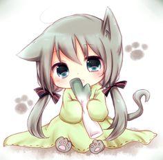 gatitos kawaii anime en personas - Buscar con Google