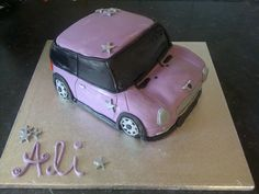 BMW Mini Cooper Cake - made by Samantha Jenkins :D