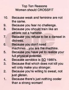 Why Women should CROSSFIT!