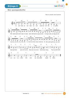 Thema Sint - speelgoed - gratis download - activiteiten - liedje - mijn speelgoedkoffer Sheet Music, School, Music Sheets