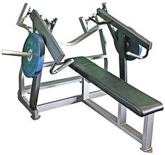 Muscle D Power Leverage Line Horizontal Bench Press, designed with convergent handles that deliver more effective exercise motions than regular bench presses. Diy Gym Equipment, No Equipment Workout, Fitness Equipment, Diy Home Gym, Martial Arts Workout, Long Bench, Bench Press, Muscle Power, Ascot